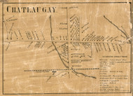 Chateaugay Village, New York 1858 Old Town Map Custom Print - Franklin Co.