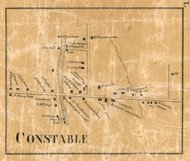 Constable Village, New York 1858 Old Town Map Custom Print - Franklin Co.