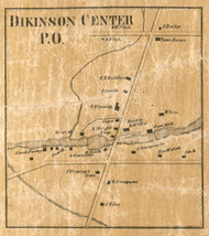 Dickinson Center, New York 1858 Old Town Map Custom Print - Franklin Co.