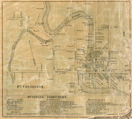 Fort Covington Village, New York 1858 Old Town Map Custom Print - Franklin Co.