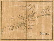 Moira Village, New York 1858 Old Town Map Custom Print - Franklin Co.
