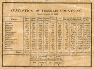 County Statistics, New York 1858 Old Town Map Custom Print - Franklin Co.