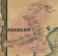 Broadalbin Village, New York 1856 Old Town Map Custom Print - Fulton Co.