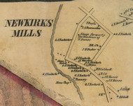 Newkieks Mills, New York 1856 Old Town Map Custom Print - Fulton Co.