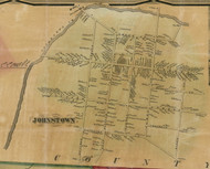 Johnstown Village, New York 1856 Old Town Map Custom Print - Fulton Co.