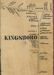 Kingsboro, New York 1856 Old Town Map Custom Print - Fulton Co.