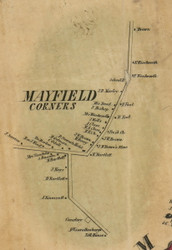 Mayfield Corners, New York 1856 Old Town Map Custom Print - Fulton Co.