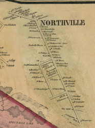 Northville, New York 1856 Old Town Map Custom Print - Fulton Co.