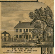 The Hall House, New York 1856 Old Town Map Custom Print - Fulton Co.