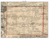 Darien, New York 1854 Old Town Map Custom Print - Genesee Co.