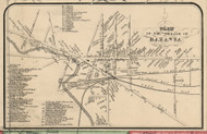 Batavia Village, New York 1854 Old Town Map Custom Print - Genesee Co.