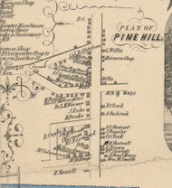 Pine Hill, New York 1854 Old Town Map Custom Print - Genesee Co.