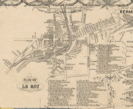 LeRoy Village, New York 1854 Old Town Map Custom Print - Genesee Co.