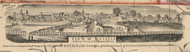 View of Batavia, New York 1854 Old Town Map Custom Print - Genesee Co.