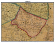 Athens, New York 1856 Old Town Map Custom Print - Greene Co.
