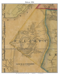 Halcott, New York 1856 Old Town Map Custom Print - Greene Co.