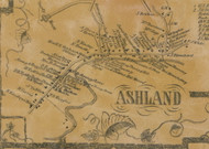 Ashland Village, New York 1856 Old Town Map Custom Print - Greene Co.