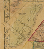 Athens Village, New York 1856 Old Town Map Custom Print - Greene Co.