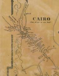 Cairo Village, New York 1856 Old Town Map Custom Print - Greene Co.