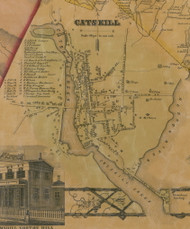 Catskill Village, New York 1856 Old Town Map Custom Print - Greene Co.