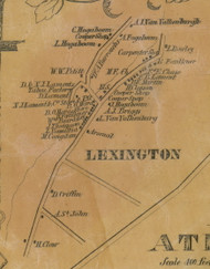 Lexington Village, New York 1856 Old Town Map Custom Print - Greene Co.