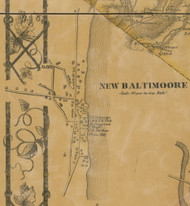 New Baltimore Village, New York 1856 Old Town Map Custom Print - Greene Co.