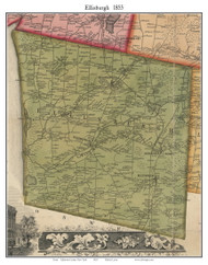 Ellisburgh, New York 1855 Old Town Map Custom Print - Jefferson Co.