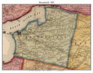 Houndsfield, New York 1855 Old Town Map Custom Print - Jefferson Co.