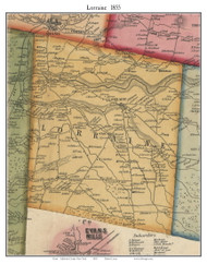 Lorraine, New York 1855 Old Town Map Custom Print - Jefferson Co.