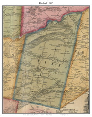 Rutland, New York 1855 Old Town Map Custom Print - Jefferson Co.