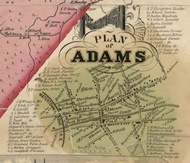 Adams Village, New York 1855 Old Town Map Custom Print - Jefferson Co.