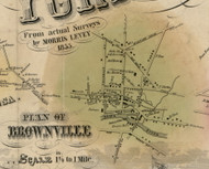 Brownsville Village, New York 1855 Old Town Map Custom Print - Jefferson Co.