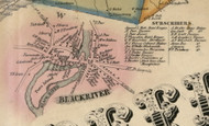Black River, New York 1855 Old Town Map Custom Print - Jefferson Co.