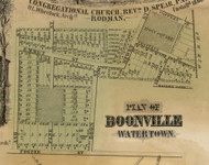 Boonville, New York 1855 Old Town Map Custom Print - Jefferson Co.