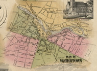 Watertown Village, New York 1855 Old Town Map Custom Print - Jefferson Co.