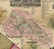 Carthage, New York 1855 Old Town Map Custom Print - Jefferson Co.