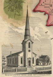 Methodist Episcopal Church, New York 1855 Old Town Map Custom Print - Jefferson Co.