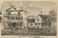Res. of R.S. West, New York 1855 Old Town Map Custom Print - Jefferson Co.