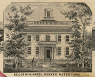 Res. of W.H. Angel, New York 1855 Old Town Map Custom Print - Jefferson Co.