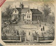 Watertown Alcove, New York 1855 Old Town Map Custom Print - Jefferson Co.