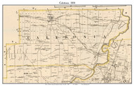 Caledonia, New York 1858 Old Town Map Custom Print - Livingston Co.