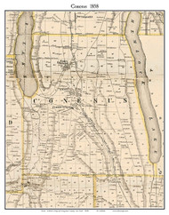 Conesus, New York 1858 Old Town Map Custom Print - Livingston Co.