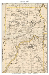 Leicester, New York 1858 Old Town Map Custom Print - Livingston Co.