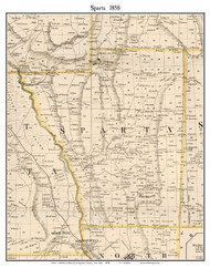 Sparta, New York 1858 Old Town Map Custom Print - Livingston Co.