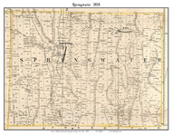 Springwater, New York 1858 Old Town Map Custom Print - Livingston Co.