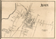 Avon Village, New York 1858 Old Town Map Custom Print - Livingston Co.