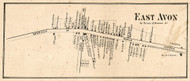 East Avon, New York 1858 Old Town Map Custom Print - Livingston Co.