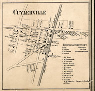 Cuylerville, New York 1858 Old Town Map Custom Print - Livingston Co.
