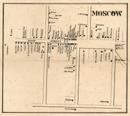 Moscow, New York 1858 Old Town Map Custom Print - Livingston Co.