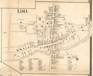 Lima Village, New York 1858 Old Town Map Custom Print - Livingston Co.